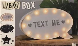 Speech Bubble Shaped Light Box With Magnetic Letters 29cm