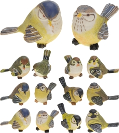 Polystone Bird Statue 12 Assorted