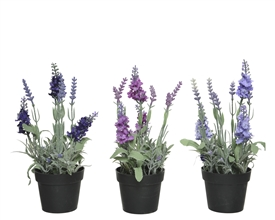 Artificial Lavender Potted Plant- 3 Assorted- 25cm