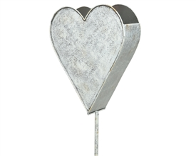 Washed Out Pink Zinc Heart Garden Wall Decoration- 100cm