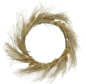 Dried Grass Ring Garland- 30cm