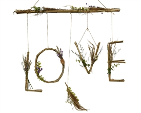 Love Lettering Grass Hanging Home Decoration- 60cm