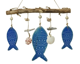 Wooden Nautical Fish Hanging Home Decoration- 42cm