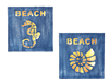 Beach LED Sign 2 Assorted 18cm