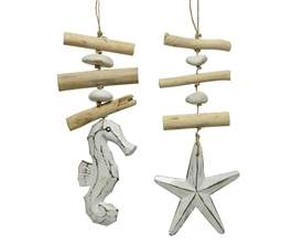Driftwood Sea Animal Hanging Garland- 2 Assorted- 30cm