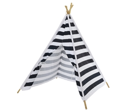 Black And White Stripe Teepee Tent- 155cm