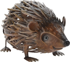 Metal Hedgehog Statue 23cm