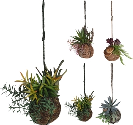 Hanging Artificial Plant 4 Assorted