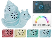 REDUCED Light Up Ceramic Snail 12cm - 4 Assorted