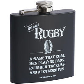 Rugby Theme Hip Flask