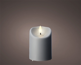 LED Pillar Candle with Realistic Flame
