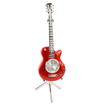 Red Guitar Miniature Clock