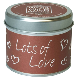 Wax & Wild Candle in Tin - Lots of Love