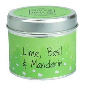 Candle in Tin - Lime, Basil & Mandarin