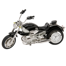 Miniature Clock Black Motorbike