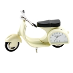 WM Miniature Clock - Vespa Cream 11cm