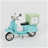 Miniature Blue Vespa Clock 10cm