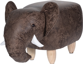 Plush Elephant Stool