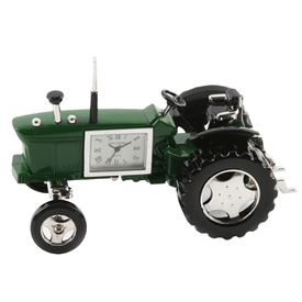 Minature Green Tractor Clock
