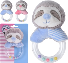 Sloth Plush Rattle 2 Assorted
