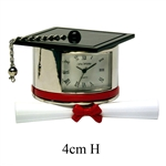 Graduation Hat And Scroll Miniature Clock