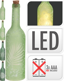 Frosted LED Bottle 4 Assorted