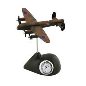 Minature Army Coloured Lancaster Plane Clock