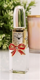 Glass Lipstick Miniature Clock