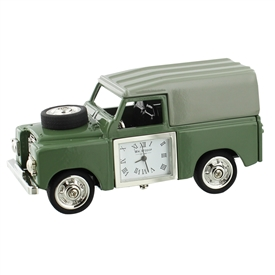 Green Jeep Minature Clock