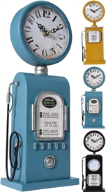 Petrol Pump Table Clock 3 Assorted