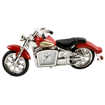 Red Motorbike Miniature Clock