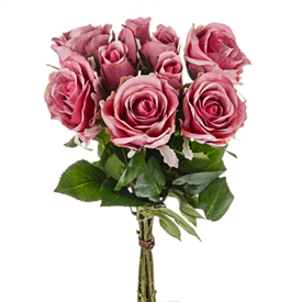 Pink Rose Bunch 42cm