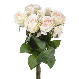 Cream Rose Bunch 42cm