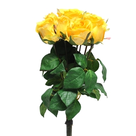 Yellow Rose Bunch 42cm