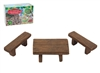 Secret Fairy Garden Table And Bench Set Set