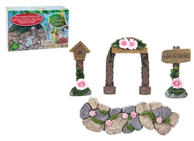 Secret Fairy 4 Piece Garden Path Set