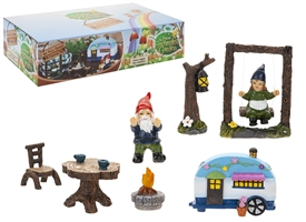 Secret Fairy Garden Gnome And Caravan Set