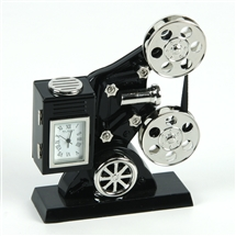 Film Projector Miniature Clock
