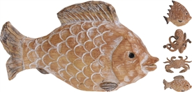 Polystone Sea Animal Decoration 18cm 4 Assorted