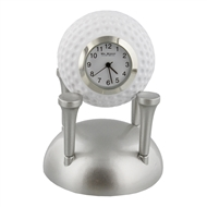 Miniature Clock Golf Ball Sitting On Tees