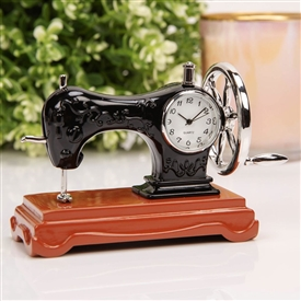 Sewing Machine Miniature Clock