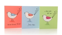Pack Of 12 Bird Notecards