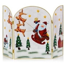 Santa And Sleigh Firegaurd 49cm