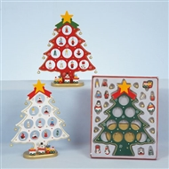 Wooden Tree With Handing Decorations - 3 Assorted