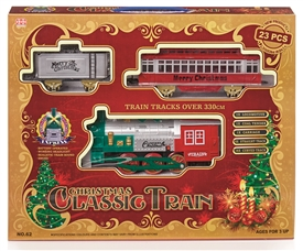 'Merry Christmas' 23 Piece Train Set With Authentic Sounds, Lights and Smoke