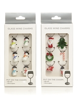 Set Of 6 Wine Charms 2 Assorted