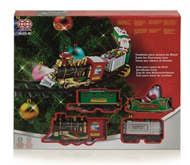 Christmas Tree Train Set Decoration With Authentic Sounds And Lights