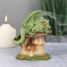 Green Dragon Incense Cone Holder 13cm