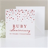 Amore Deluxe Card Ruby Anniversary