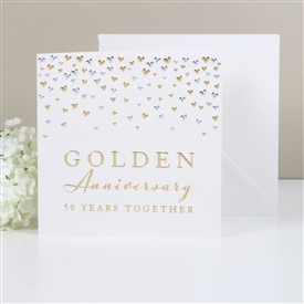 Amore Deluxe Card Golden Anniversary
